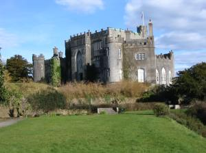 Birr Castle with lawn in front