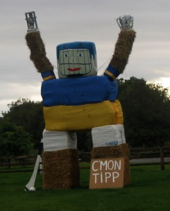 Tipperary hurler built from bales of straw