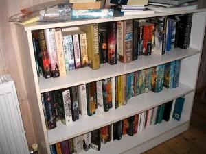 3 more shelves of books