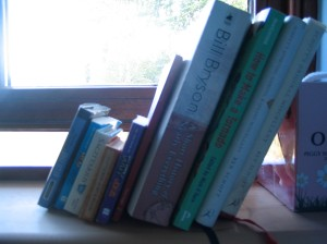 Books on window sill