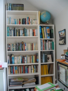 books on Billie bookcase