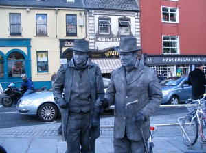Mime Artists on street in Kilkenny