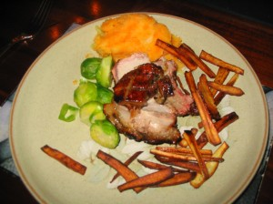 Hungarian Rack of Pork with Parsnip Chips