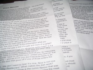 3 pages of guidelines
