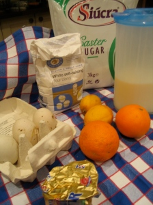 Ingredients for Citrus Pudding