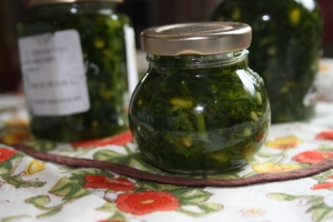 Jars of wild garlic pesto