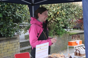 Gillian at her stall