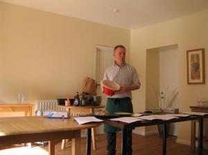 David demonstrating