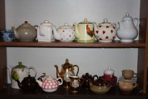 A selection of teapots