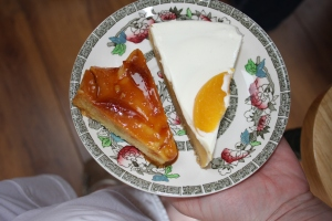 Mexican flan and Mango Pie