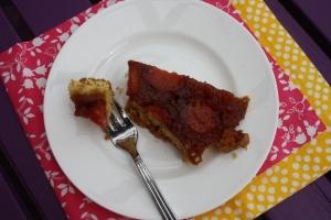Slice of Tuscan Plum Tart