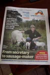 Me on front of Irish Independent