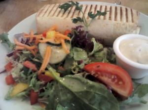Chilli Beef Wrap with salad