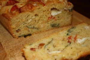 Tomato, basil and goat's cheese bread