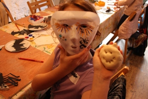 Halloween Mask and Salt dough monster