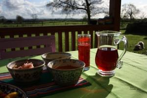 Jug with Hibiscus Tea