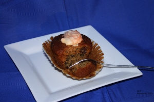 Smiddy cake on white plate