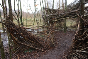 Deteriorated Willow Sculpture at Lough Boora Parklands