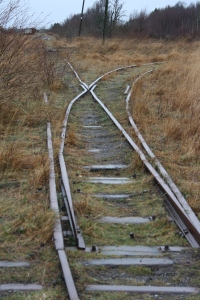 Dis-used Railway Tracks at Lough Boora