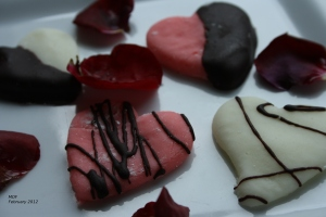 heart shaped mints