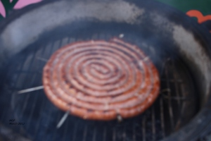 sausage roll on bbq