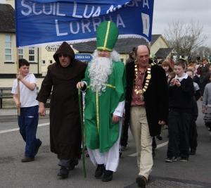 St. Patrick leads parade
