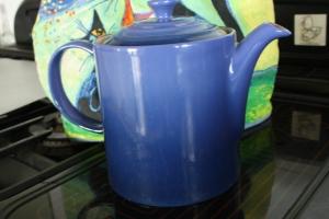Blue Le Creuset Teapot