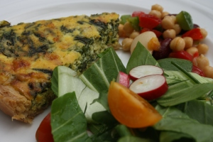 Spinach & Ricotta Quiche