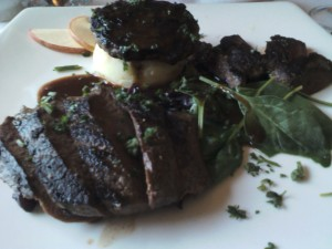 Medallion of Bison and Venison steak