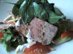 Duck terrine with salad