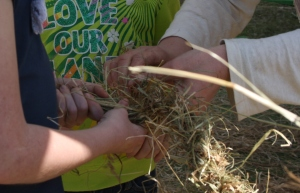 hay rope making