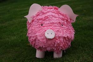 a piggy pinata