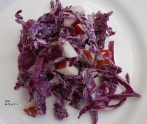 Red Cabbage & Apple Slaw