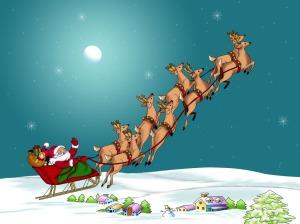 Santa & reindeers