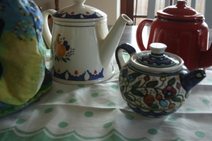 four tea pots