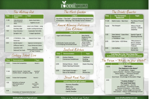 Schedule for Foodie Forum