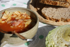 Bacon & Cabbage Soup