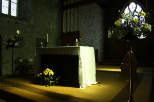 Eerie Light on Church altar
