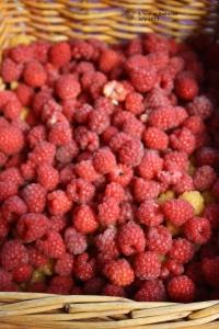A basket of fresh raspberries