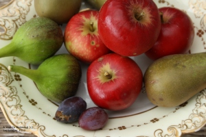 Apples, pears, figs and damsons