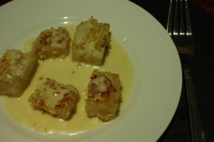 Celeriac with Cheese Sauce