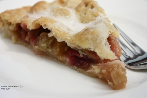 Rhubarb Tart with Coconut Pastry