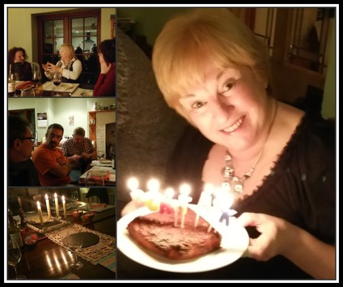 Family and friends gave me a surprise dinner party