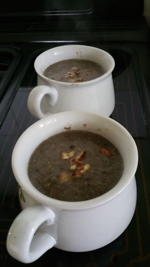 Mushroom & Hazelnut Soup