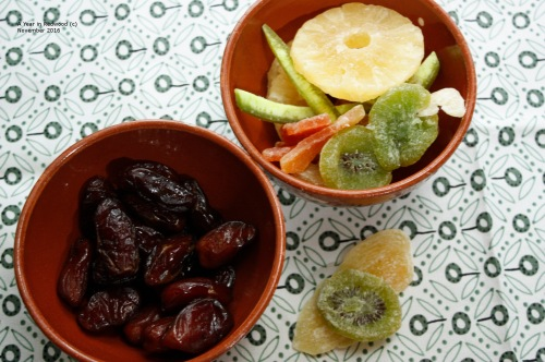 Dried fruit - dates and mixed peel