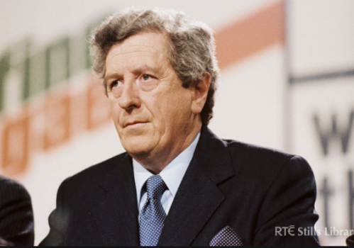 the late Garret FitzGerald - photo courtesy of RTE Stills Library